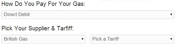 Gas Supplier and Tariff